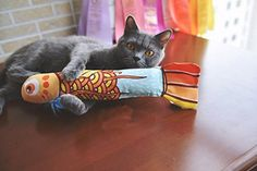 Catnip Cat Toys Fashion Cute Cat Toy Fish Cat Scratcher with Catnip -- Check out this great product. (This is an affiliate link and I receive a commission for the sales)
