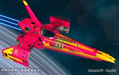 Magic Magenta and Orange long-nose. No Man's Sky, Glyph Font, Hello Games, Other Galaxies, Starship Concept, Name Pictures, Community Events, Spaceships, Planets