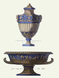 Resultado de imagem para anonymous vases - pl. x (blue) (restrike etching) urns & vases art pri