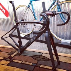 Wilier Triestina Cento10NDR frameset. #twohubs #bikeporn #wiliertriestina #cento10ndr #italia #stealth #longliveitalyliberatedandredeemed #roaddisc