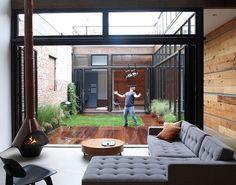 North Brooklyn home with a center atrium by MESH Architects #patio #backyard #garden #courtyard #atrium