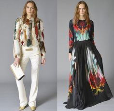 Just Cavalli 2015 Pre Fall Autumn Womens Lookbook Presentation - Leather Outerwear Jacket Snake Print Graphic Metallic Studs Sweater Jumper Slouchy Pants Trousers Furry Wide Waistband Maxi Dress Flame Knit Miniskirt Mulberries Reptile Baroque Viscose Leather Bodice Cashmere Flame Graphic