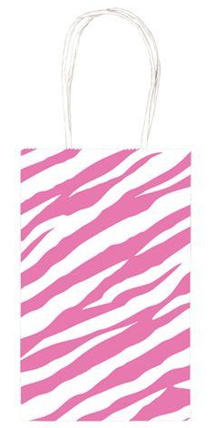 Pink Zebra Print Party Bag, 84959