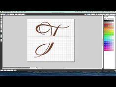 Silhouette Cameo:  Split Letter Tutorial/Subtract Method
