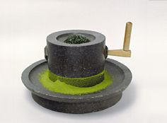 reference for Woodworking - besidebloomingirises:   Stone-grinder for matcha.