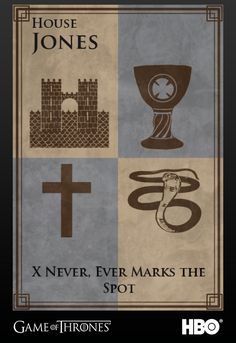 "Indiana Jones from the Indiana Jones Franchise | 26 ""Game Of Thrones"" Sigils For Famous Fictional Characters"