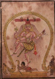 Shiva Nataraja. Schule von Tanjore, 1850