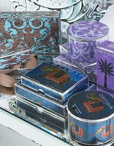Ortigia Lavender, Sandalwood and Almond Bath Products