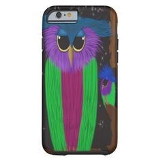 The Prismatic Crested Owl iPhone 6 Case. Artwork designed by #OneArtsyMomma.