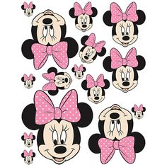 INSTANT DOWNLOAD Mouse ( 5 sizes ) - for Balloon, Stickers, Lollipop, Favor bags, Cups - Minnie birthday party - PRINTABLE