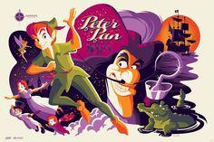 Peter Pan by Tom Whalen.
