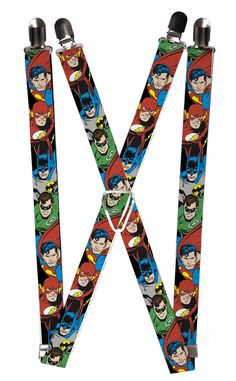 Your child will think they are a superhero in these awesome DC comic suspenders. They are also the perfect way to easily keep their pants up in place.