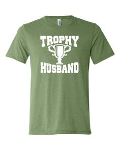 Adult Trophy Husband Novelty Funny Fathers Day Valentines Day Triblend Short Sleeve T-Shirt