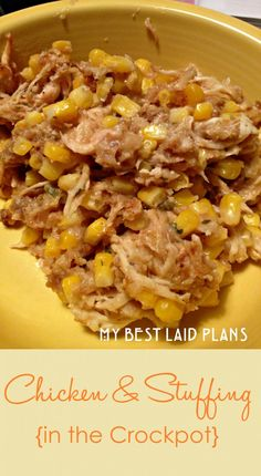 Chicken and Stuffing {in the Crockpot} - My Best Laid Plans