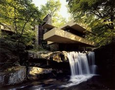Built partly over a waterfall in southwestern Pennsylvania, Fallingwater (constructed 1936-1939) is considered one of Wright's greatest masterpieces. The building is a National Historic Landmark and has welcomed over five million visitors since the site was opened to the public in 1964. #dwell #franklloydwright #unescoworldheritagebuildings