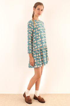 Abito Charleston - stampa di Anna Kövecses Abbigliamento Donna Made in Italy