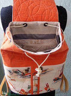 Textil hátizsák, vitorlás hajók (Lintu) - Meska.hu Textiles, Fanny Pack, Bags, Fashion, Hip Bag, Handbags, Moda, Fashion Styles, Fabrics