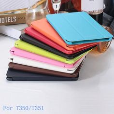 For Samsung Galaxy Tab A 8.0 T350 T351 Case business smart PU Leather Case Cover For Samsung T350 8 inch Tablet  — 354.09 руб. —