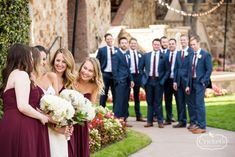 What a great shot of the wedding party from a recent Bella Collina wedding.