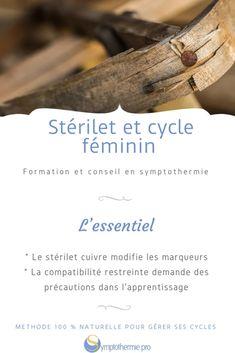 Stérilet et cycle féminin - Symptothermie.pro Surprise Pregnancy, Family Planning, Copper Iud