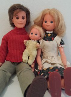The Sunshine Family Dolls - Doing things together & with You!  1970s toys. SOLD - THANK YOU!   https://www.etsy.com/listing/250320401/mattel-sunshine-family-dolls-mom-dad-and
