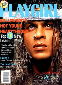SRK - Playgirl magazine cover August 2004