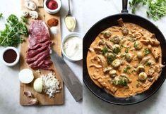 Biff Stroganoff - klassisk gryta med mycket smak | Land Hummus, Love Food, Ethnic Recipes, Mat