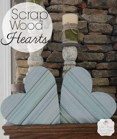 Scrap Wood Heart made from moldings, Americana and Americana Decor Crackle Medium. #decoartprojects #happy30thdecoart #valentine
