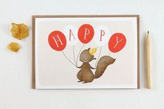 Happy Balloons Greeting Card | Whimsy Whimsical