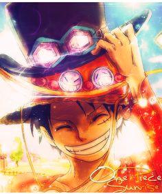 One Piece Sunrise Monkey D. Ruffy asl