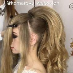 "(VIDEO) 9,566 Likes, 34 Comments - ⭐️ ANNA KOMAROVA ⭐️ (@komarova_websalon) on Instagram: ""Объёмный Восточный Хвост из своих волос."""
