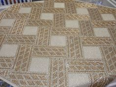 Beaded Embroidery, Embroidery Stitches, Embroidery Designs, Bargello, Stitch Design, Applique, Projects To Try, Cross Stitch, Quilts