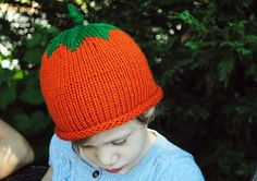 Pumpkin Hat hand knit The Mad Knitter Shop on Etsy