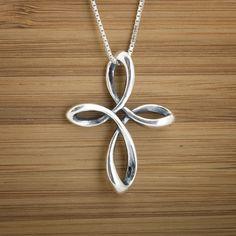Celtic Infinity Cross Pendant  STERLING by LittleDevilDesigns, $26.00