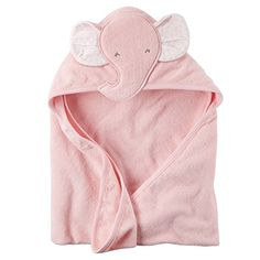 Baby Girl Elephant Hooded Towel (One Size, Pink): Super cute and gentle, this soft terry elephant towel will keep your baby girl warm after a bath. Lila Baby, Carters Baby Girl, My Baby Girl, Baby Girls, Baby Outfits, Elephant Towel, Baby Girl Elephant, Pink Elephant, Elephant Face