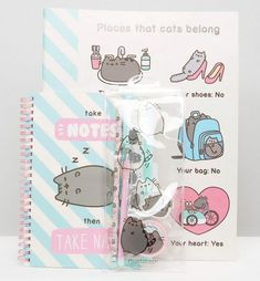 Pusheen in the UK ASOS have some exclusive Pusheen stationery available if you want to be the coolest at school (or at home).