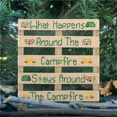 Everything Cross Stitch - Wood Pallet Campfire
