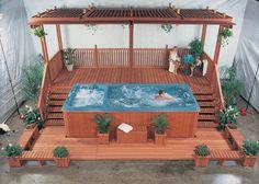 Hot Tub Gazebo, Hot Tub Backyard, Hot Tub Garden, Small Backyard Pools, Swimming Pools Backyard, Pool Spa, Lap Pools, Indoor Pools, Small Pools