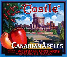Thistle brand Canadian apples fruit crate label poster The art print Apple Boxes, Apple Crates, Vintage Food Labels, Vintage Recipes, Vegetable Crates, Home Decor Sale, Apple Fruit, Vintage Travel Posters, Apples