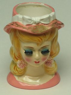 Just a Doll  a Head Vase by LEFTON which by Momsvintagetreasures, $68.00