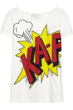 3.1 Phillip Lim|Printed cotton and modal-blend jersey T-shirt|NET-A-PORTER.COM