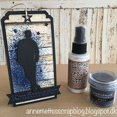 Anne-Mette´s scrapblog: Tag til Konfirmanden med Distress Resist Spray