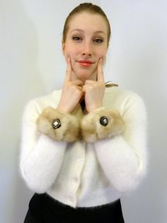 Genuine Mink Fur Cuffs Bracelets Handmade from by DakinisChoice