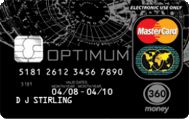 Optimum prepaid card