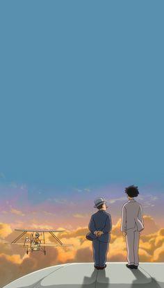 Studio Ghibli Art, Studio Ghibli Movies, Sunset Wallpaper, Wallpaper Gallery, Jiro Horikoshi, Studio Ghibli Background, Le Vent Se Leve, Studio Ghibli Characters, Wind Rises