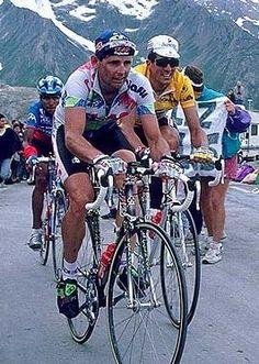 Tour de Francia 1993. Col del Galibier. Tony Rominger, Miguel Indurain y Alvaro Mejía.