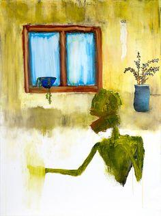 """Estoy fuera de chocolate, óleo sobre lienzo, 35 """"x47"""", 2008"""