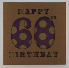 Birthday Card 60th £2.50