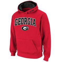 Georgia Bulldogs Stadium Athletic Arch & Logo Pullover Hoodie - Red