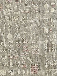 a sampling of stitches